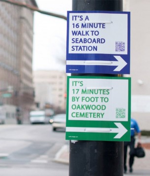 Guerrilla wayfinding for safer, sustainable cities