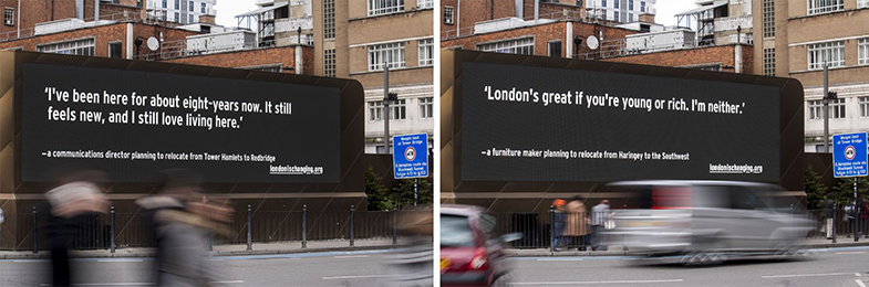 London is Changing Billboards