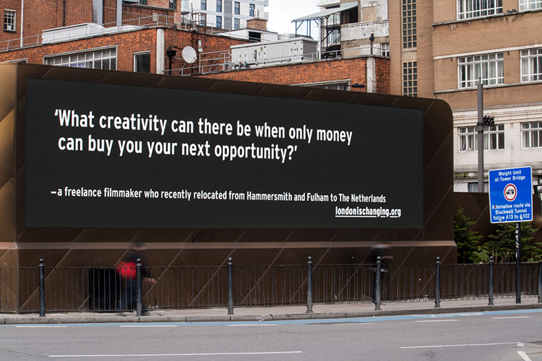 London is Changing billboard